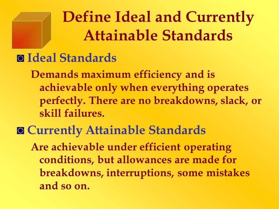 Illustrate Types of Standards