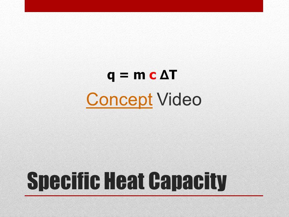 Specific Heat Capacity ConceptConcept Video q = m c Δ T