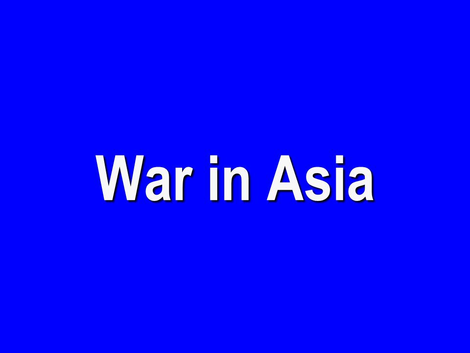 War in Europe & North Africa