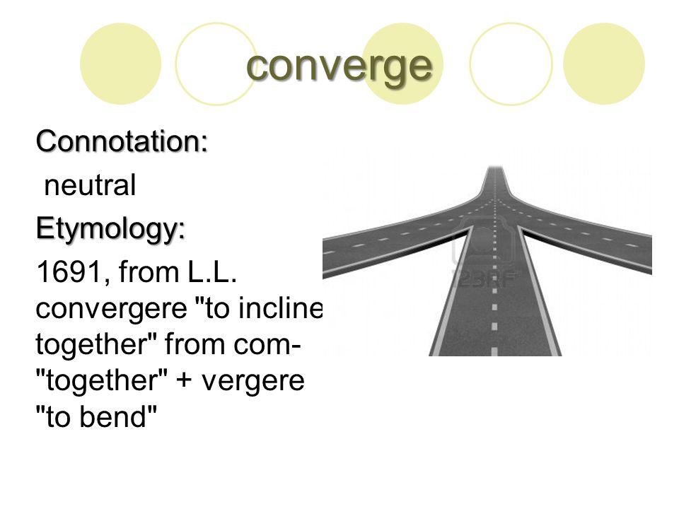 disperse Connotation: Connotation: neutralEtymology: L.