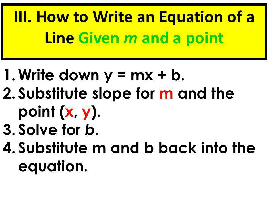 Write a line perpendicular to the line 2x + 3y = 9 and passes through the point (6, -1).