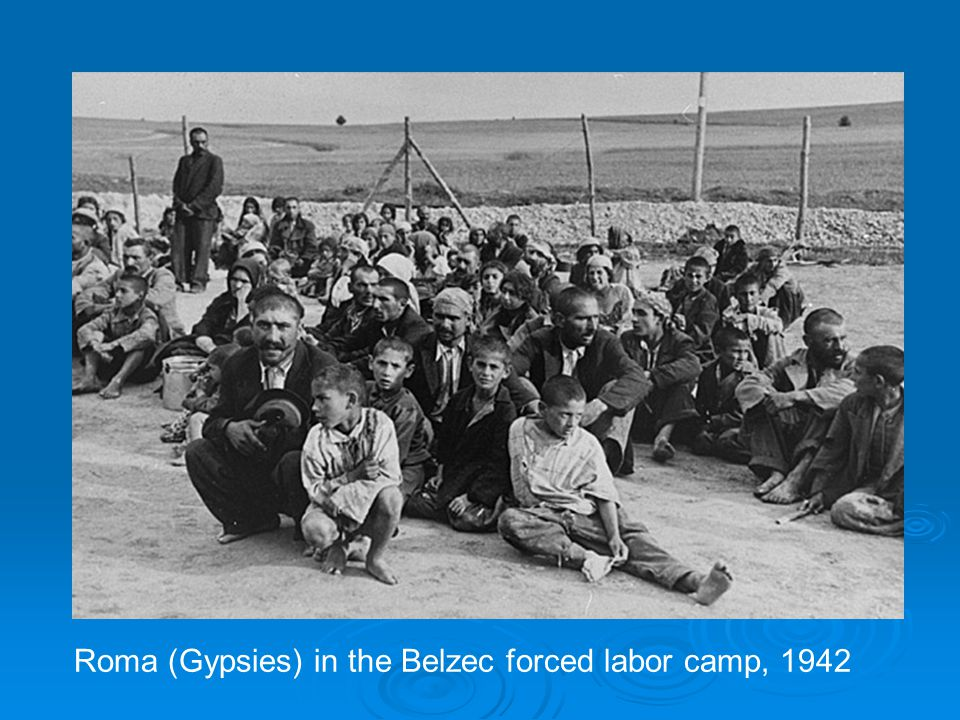 Roma (Gypsies) in the Belzec forced labor camp, 1942