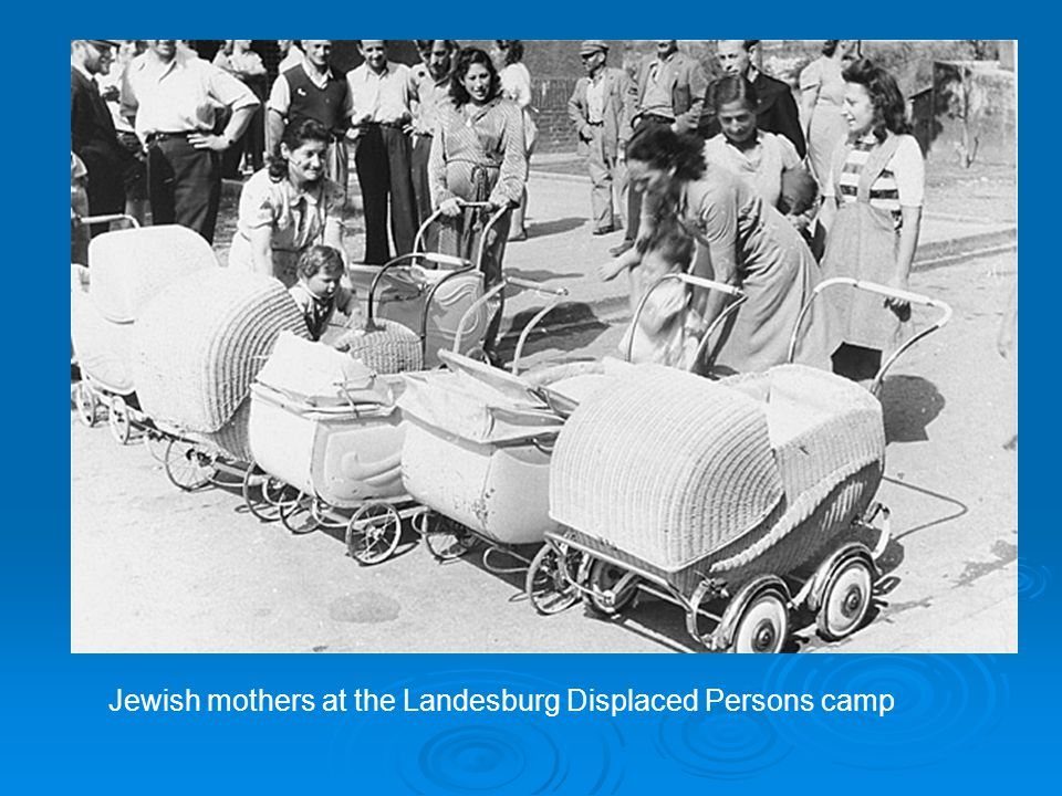 Jewish mothers at the Landesburg Displaced Persons camp