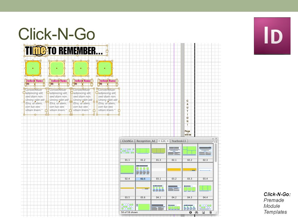 Click-N-Go Click-N-Go: Premade Module Templates