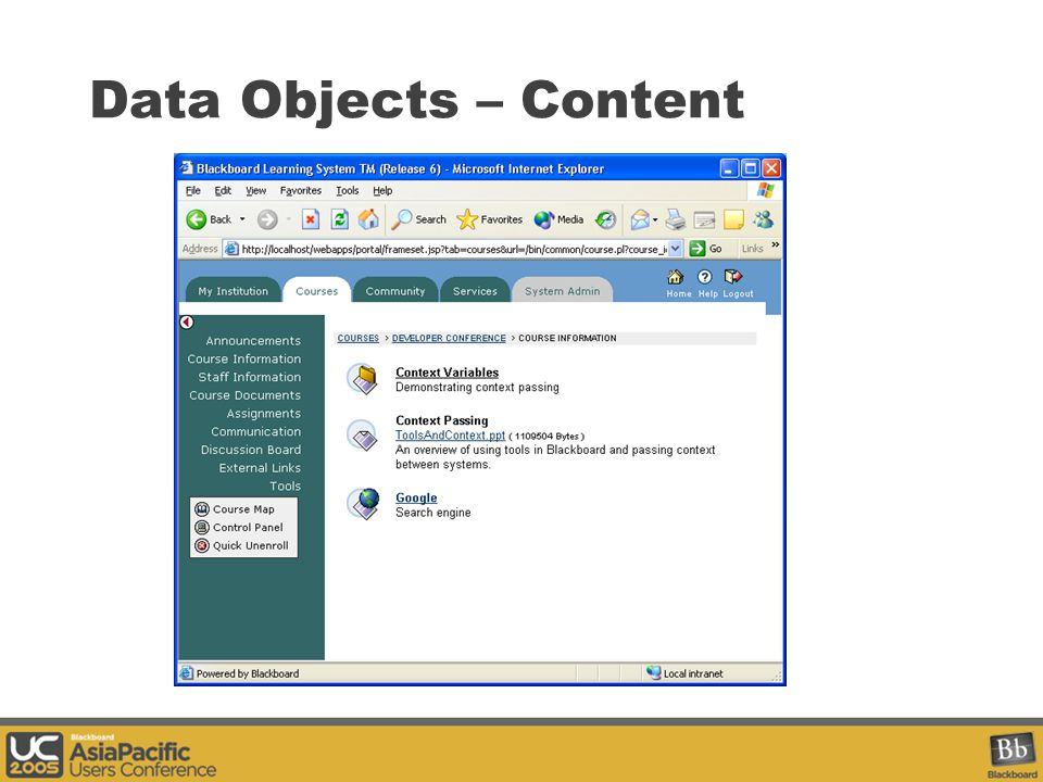 Data Objects – Content