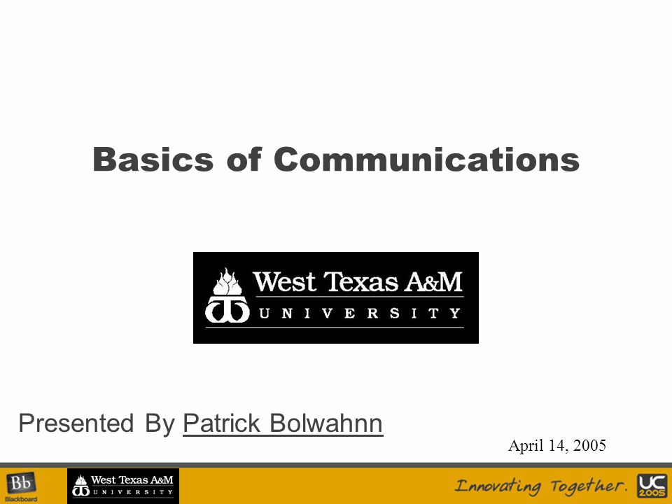 Today… Session Objectives –Learning and Understanding the Basics of Reader Communication Innovation –Terminology –Infrastructure Considerations –Equipment and Devices Results –The ability to understand and deploy a well designed reader network.