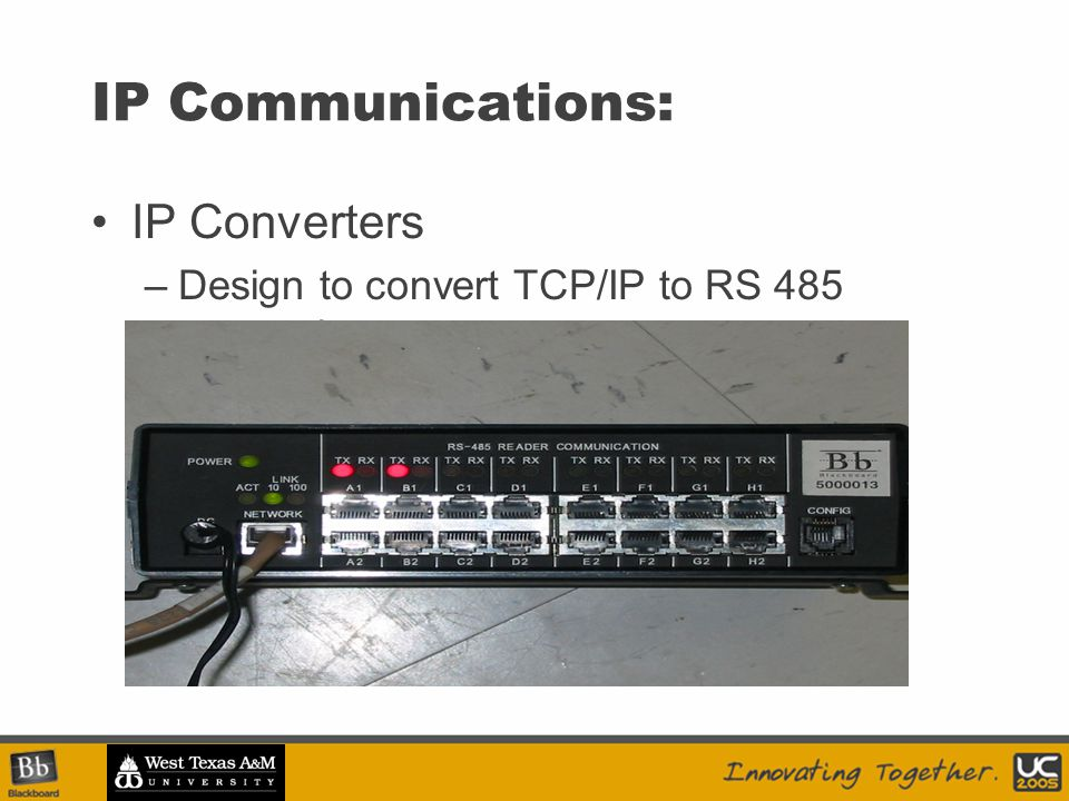 IP Communications: IP Converters –Design to convert TCP/IP to RS 485 protocol