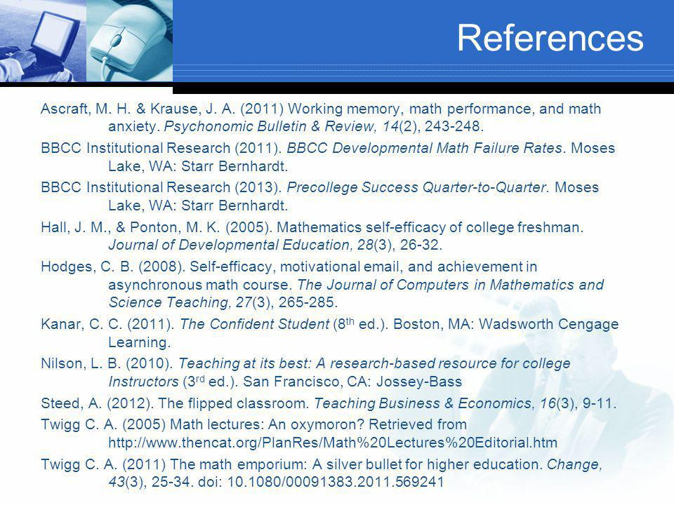 References Ascraft, M. H. & Krause, J. A.