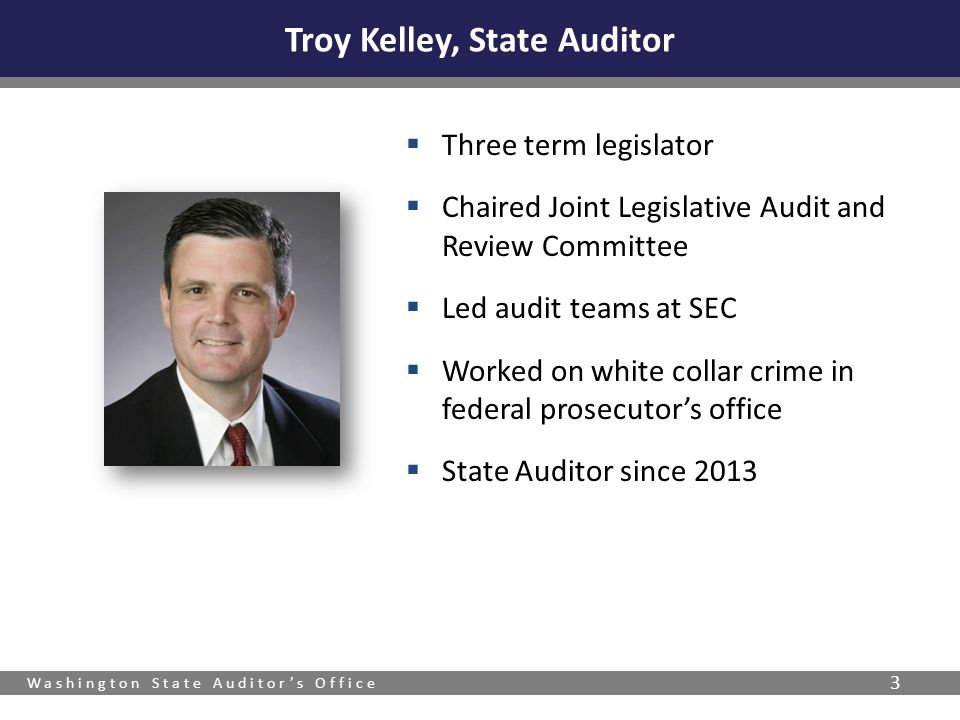 Washington State Auditor's Office 4  Creating a culture of continuous improvement.
