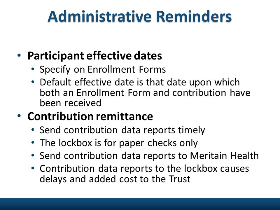 Healthcare Reform W-2 Reporting for HRAs not required Do not report contributions or value of coverage on Form W-2 Value of health reimbursement arrangement (HRA) coverage exempt from Form W-2 reporting until further notice IRS Notices 2011-28 and 2012-9 PCOR Fee New fee under healthcare reform $1 per participant per year for current plan year; will go to $2 next year Funds go to Patient-Centered Outcomes Research Institute