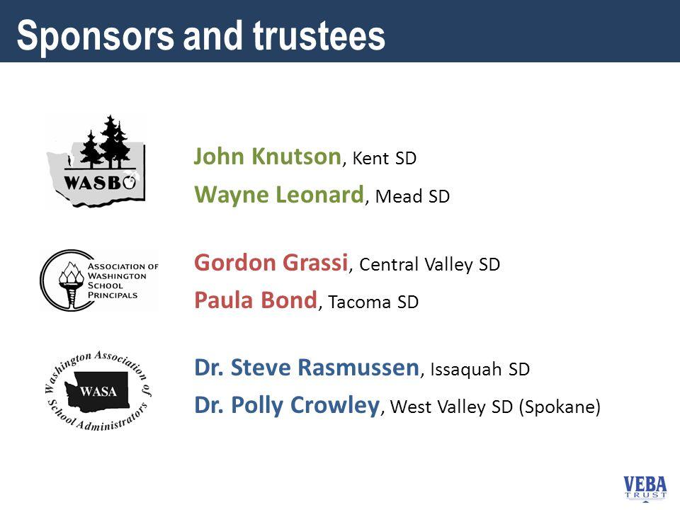 John Knutson, Kent SD Wayne Leonard, Mead SD Gordon Grassi, Central Valley SD Paula Bond, Tacoma SD Dr.