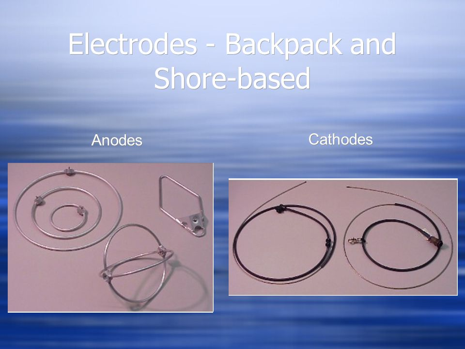 Electrodes - Backpack and Shore-based Anodes Cathodes
