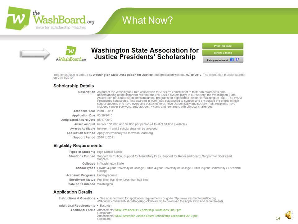 13 Washington Scholarship Coalition Matchmaker, Matchmaker
