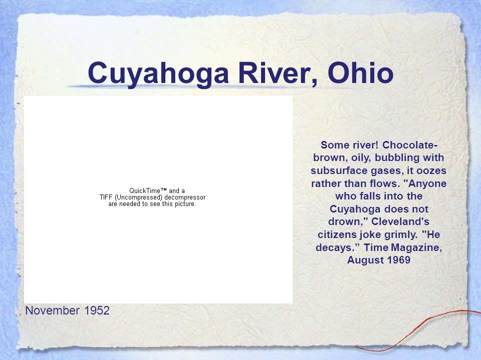 Cuyahoga River, Ohio November 1952 Some river.