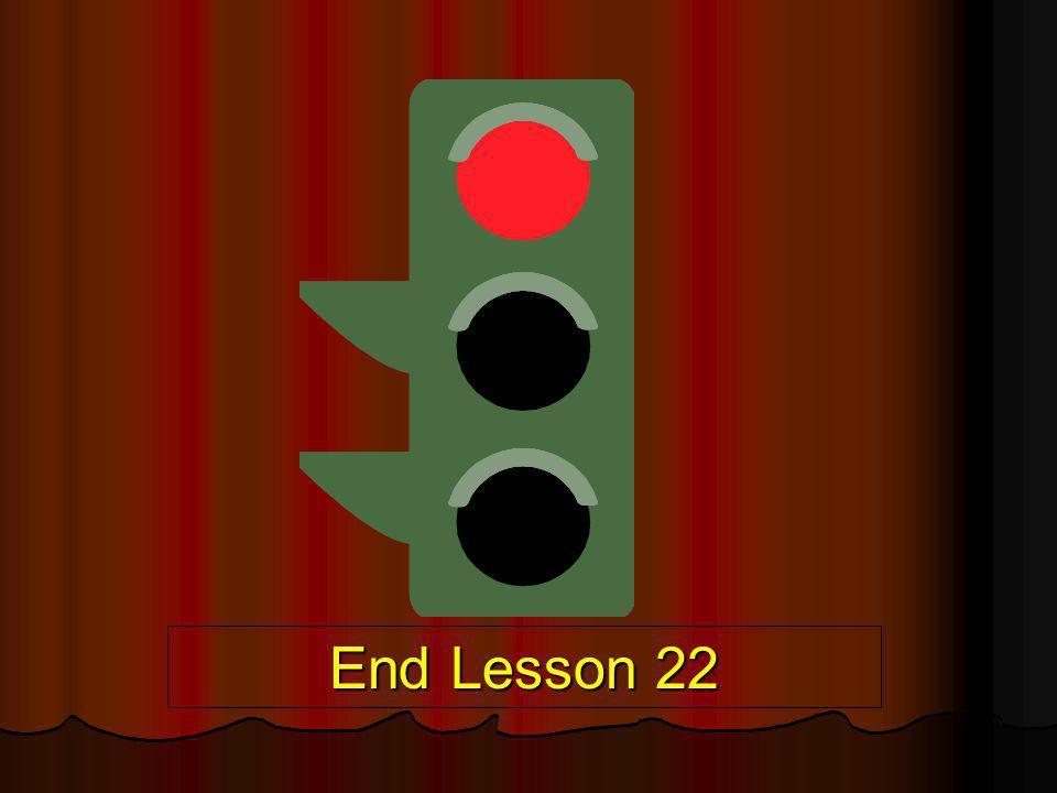 End Lesson 22