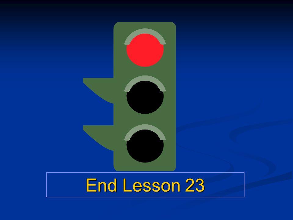 End Lesson 23