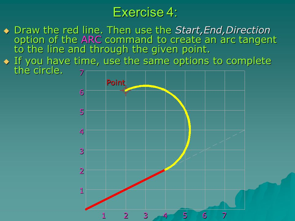 Exercise 4:  Draw the red line.