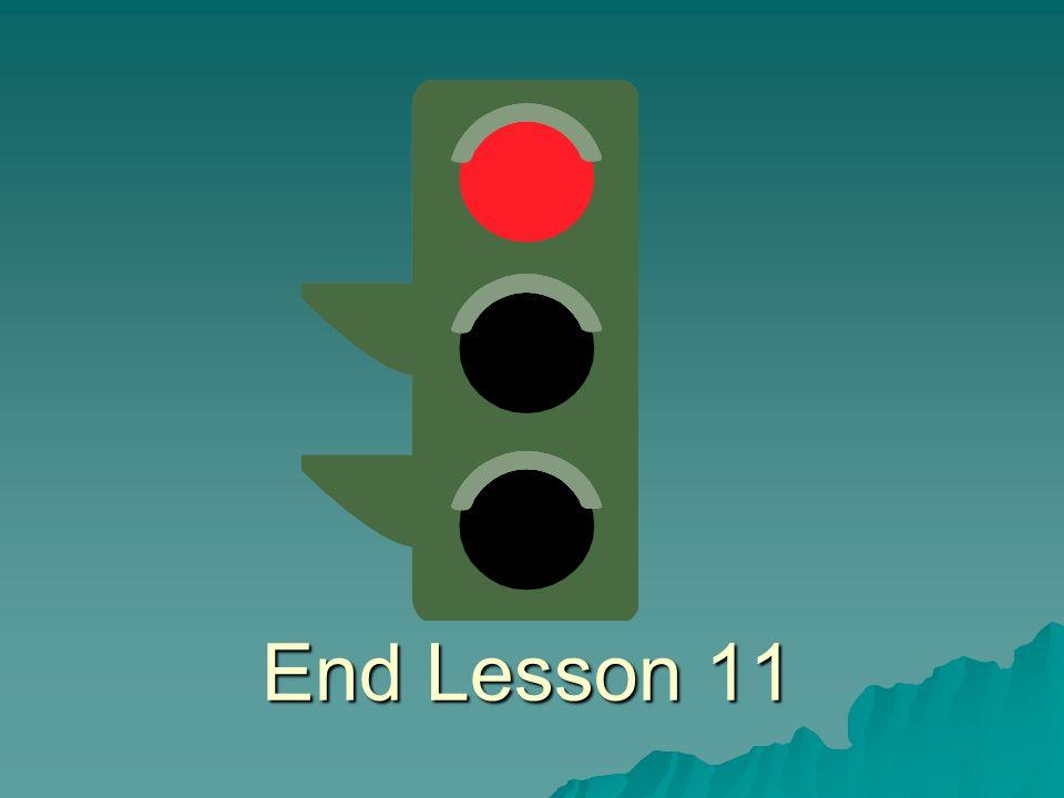 End Lesson 11