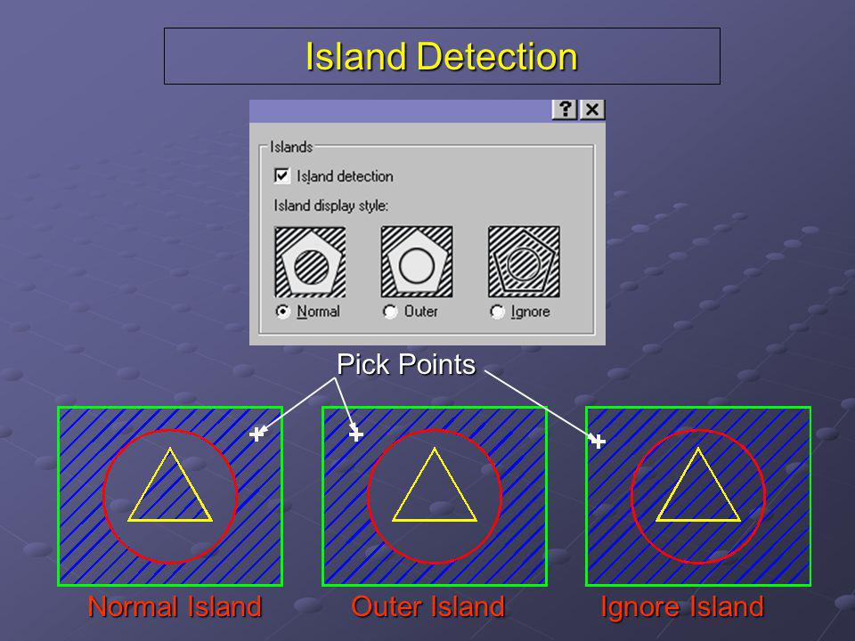 Island Detection Normal Island Outer Island Ignore Island Pick Points