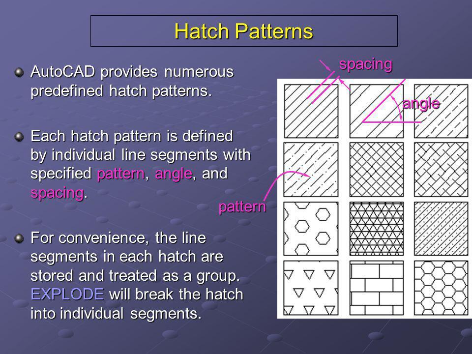 DEMO 3: Load file Demo2.dwg Show Associative vs.Nonassociative Hatch pattern.