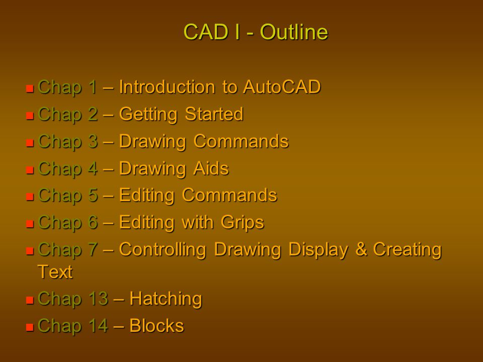 Starting AutoCAD Starting AutoCAD Double-Click AutoCAD Icon Double-Click AutoCAD Icon Start Menu Method Start Menu Method Doubleclick Demo1.dwg Doubleclick Demo1.dwg Explain doubleclick on files if previous version of AutoCAd was used most recently.