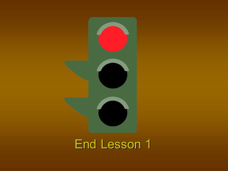 End Lesson 1