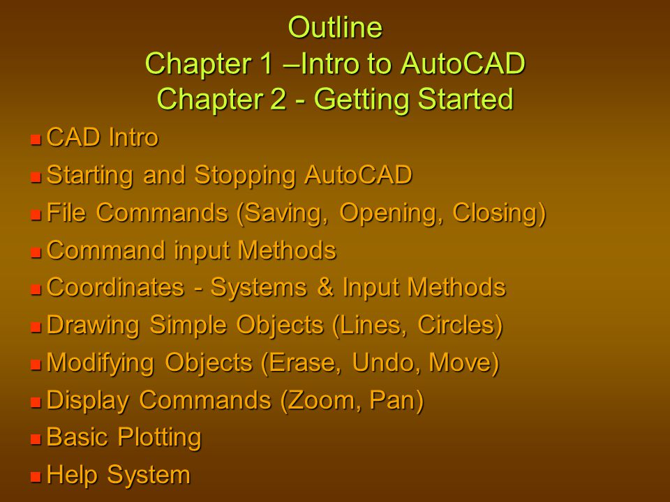 Shutting Down AutoCAD If you intend to keep the drawing data be sure you SAVE before exiting.