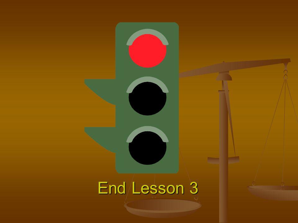 End Lesson 3