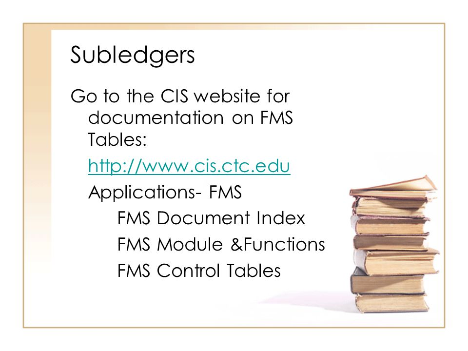 Tables Control Tables Subledger Table GA1078 General Ledger Table GA1031 Transaction Code Table GA1093