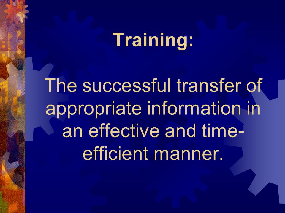 What is the Definition of Training