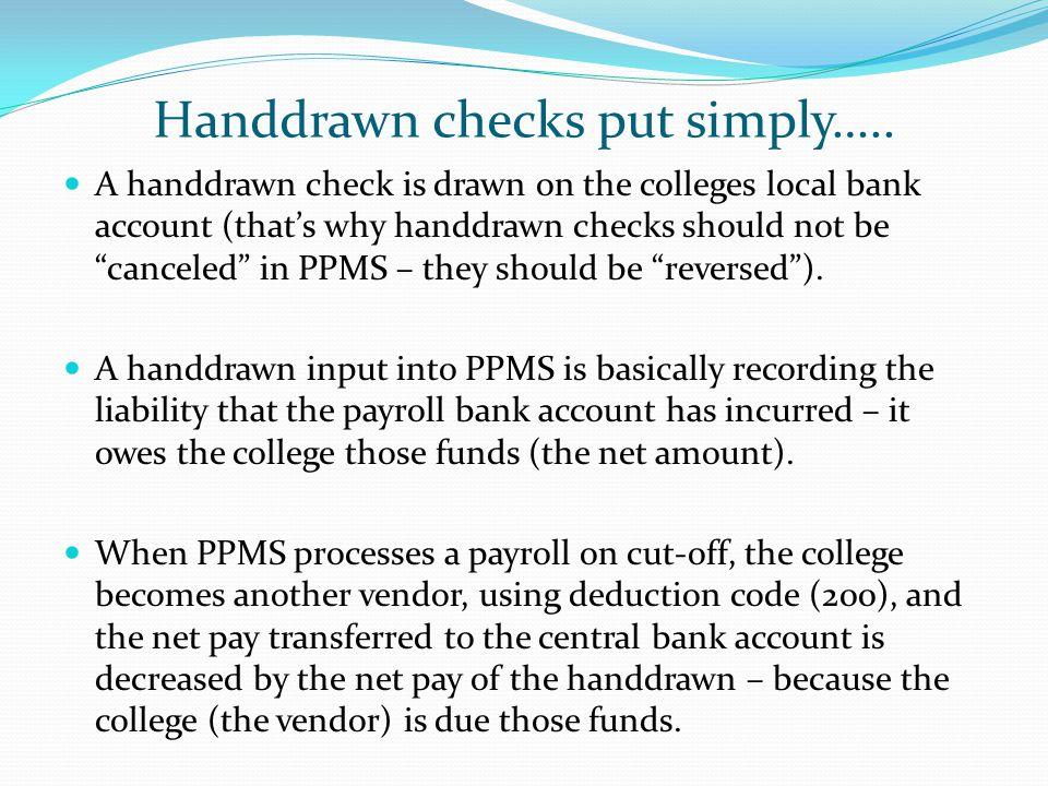 Handdrawn checks put simply…..