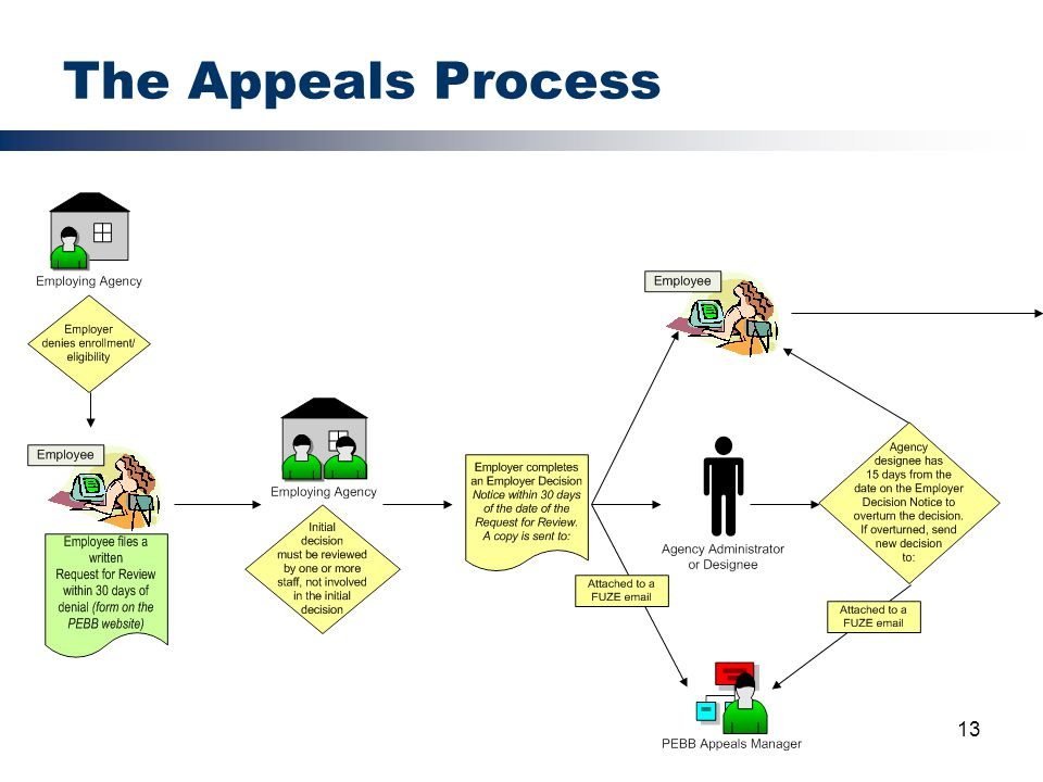 13 The Appeals Process