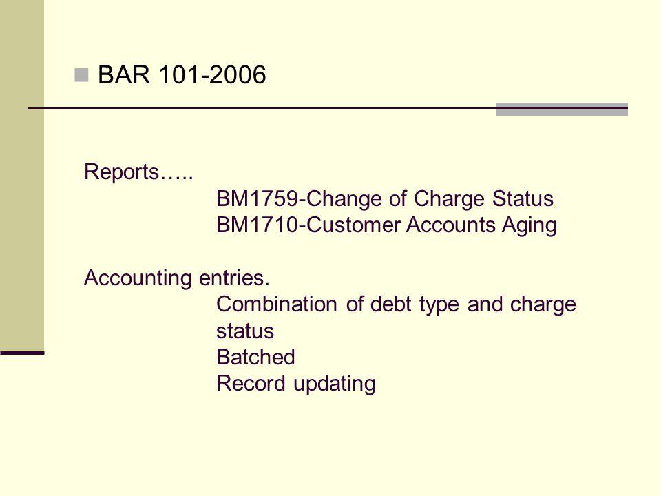 BAR 101-2006 Reports…..