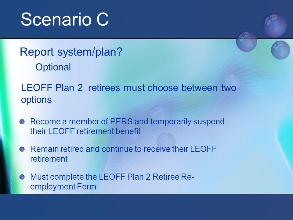 Scenario C Report system/plan.