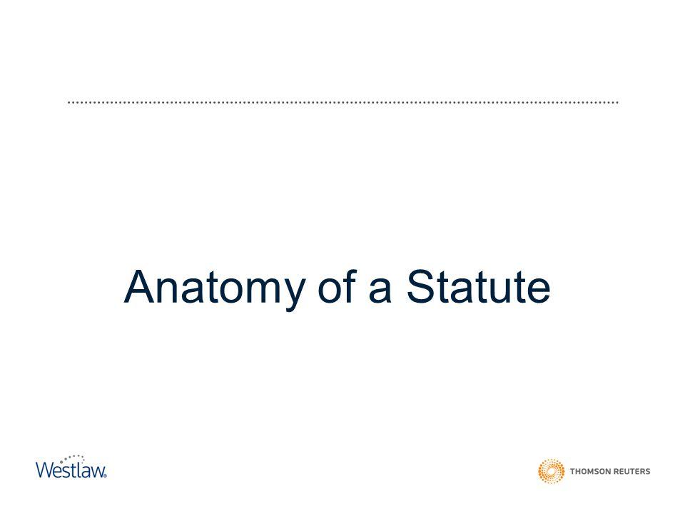 Anatomy of a Statute
