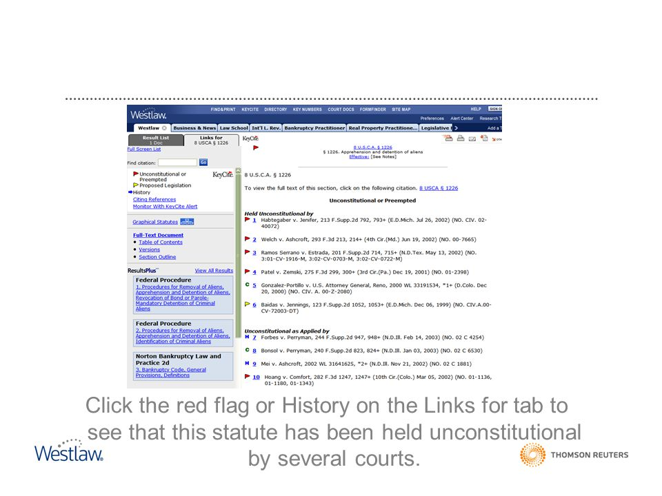 Click the red flag or History on the Links for tab to see that this statute has been held unconstitutional by several courts.
