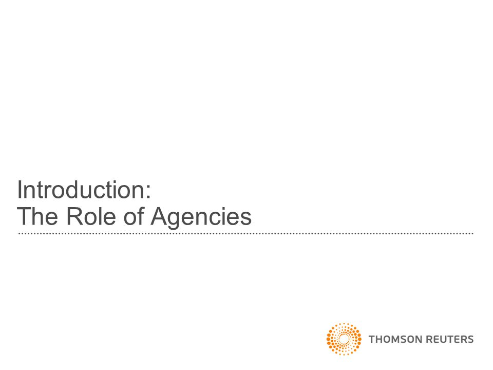 Introduction: The Role of Agencies