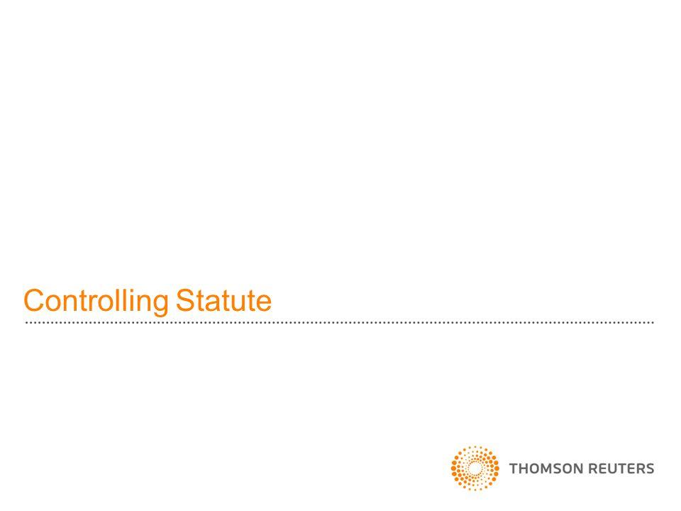 Controlling Statute