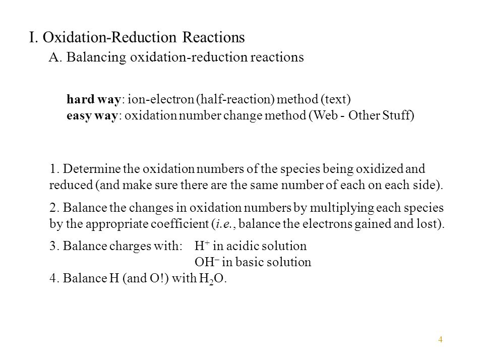 5 I.Oxidation-Reduction Reactions A.