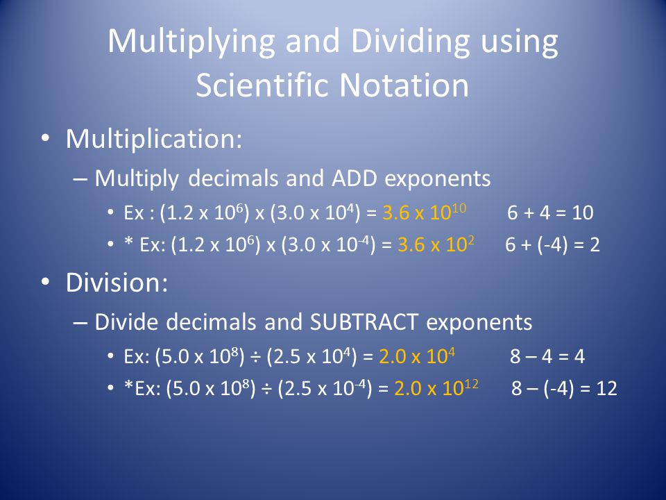 Adding and Subtracting using Scientific Notation Make sure the exponents are the same!.
