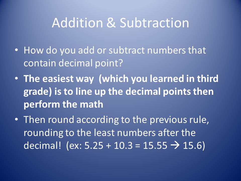 Rounding numbers An answer should have no more significant figures than the data with the fewest significant figures Example: Density of a given object = m = 22.44g = 1.5802817g/cm 3 V 14.2cm 3 How should the answer be rounded.