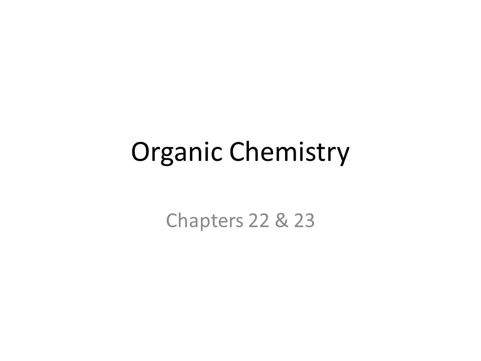 Organic Chemistry Chapters 22 & 23