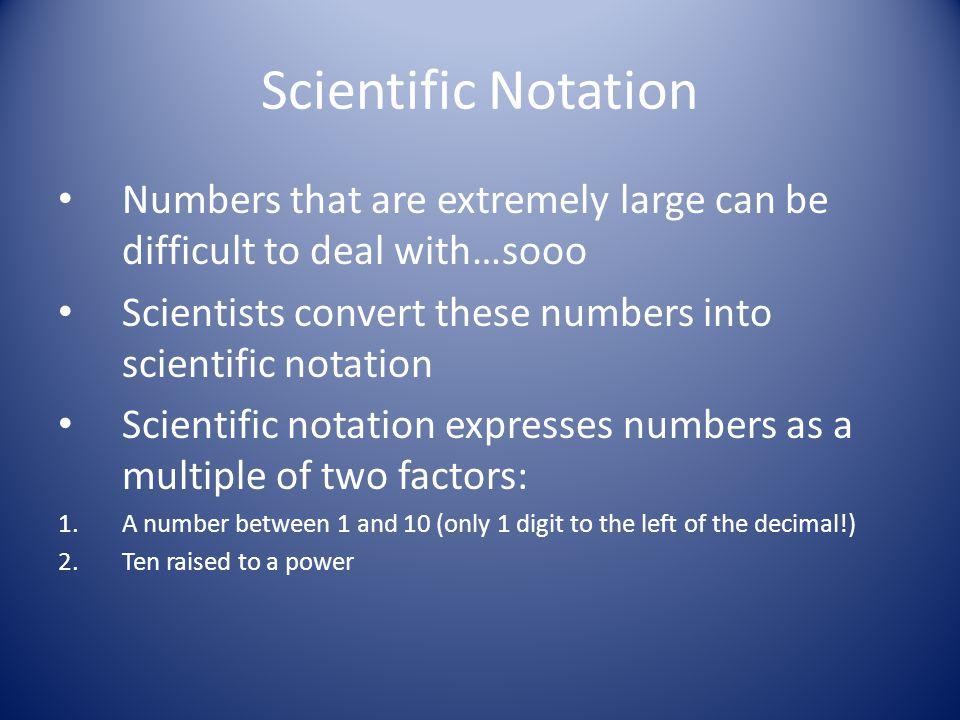 2.2 - Scientific Notation