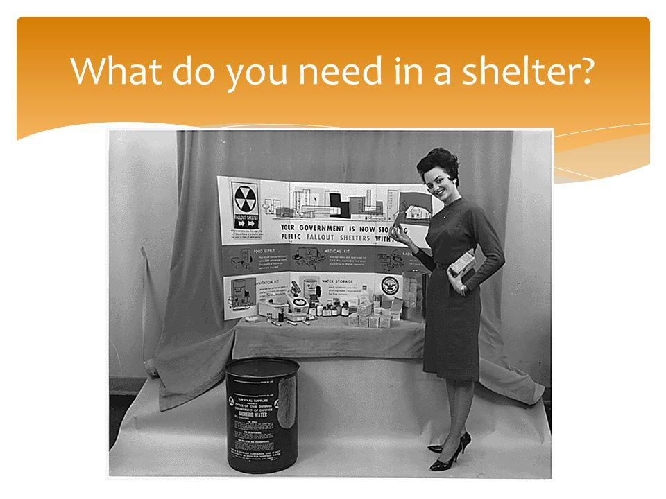 What do you need in a shelter
