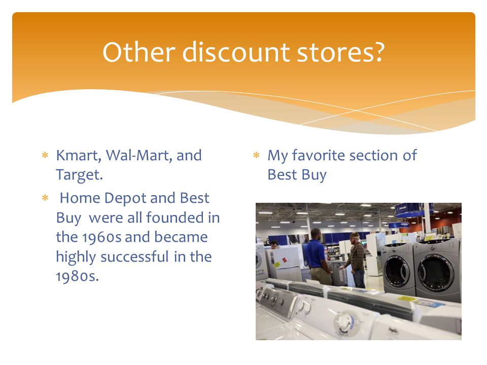 Other discount stores.  Kmart, Wal-Mart, and Target.