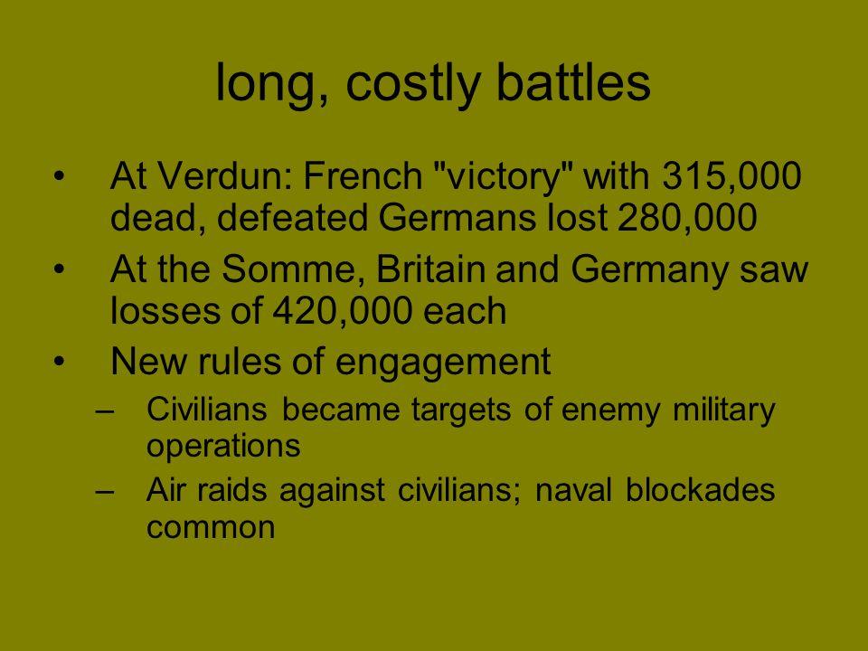 long, costly battles At Verdun: French