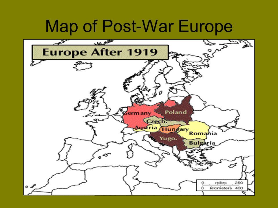 Map of Post-War Europe