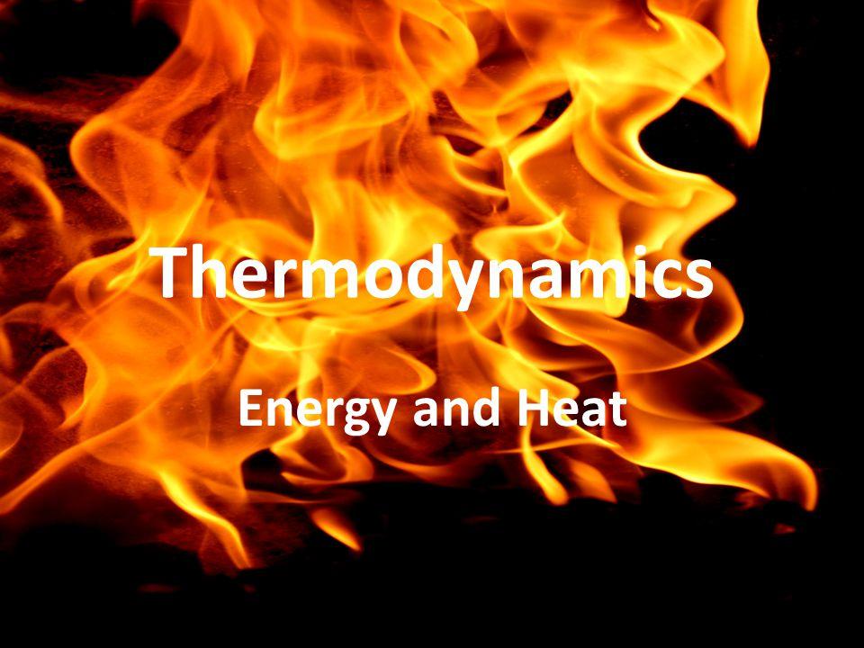 Thermodynamics Energy and Heat