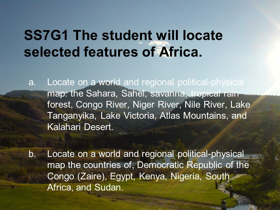 SS7E3 The student will describe factors that influence economic growth and examine their presence or absence in Nigeria and South Africa.