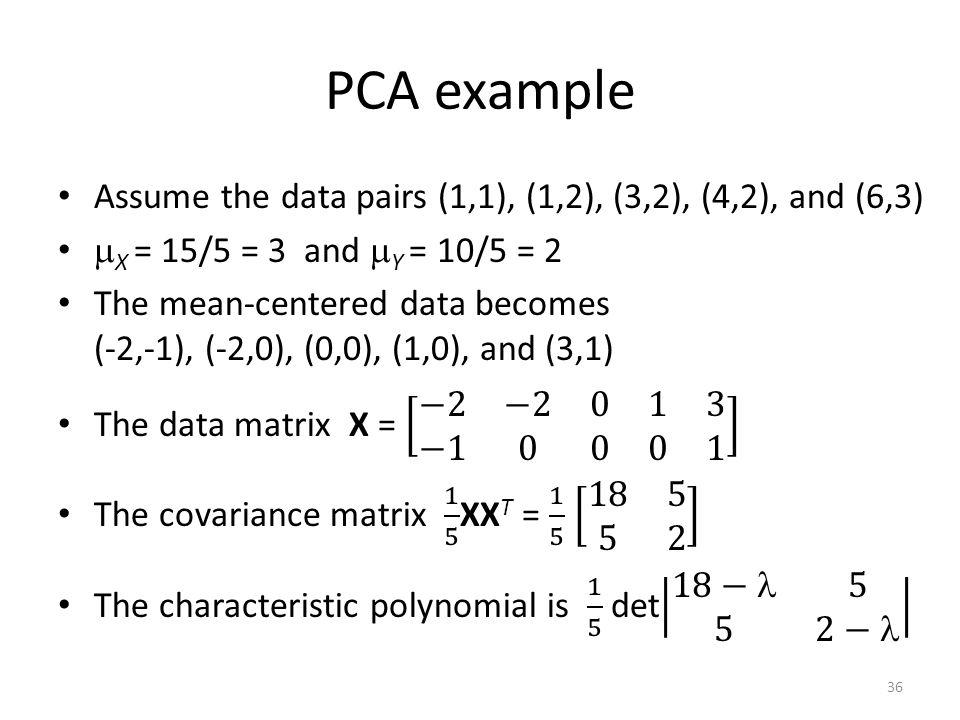 PCA example 36